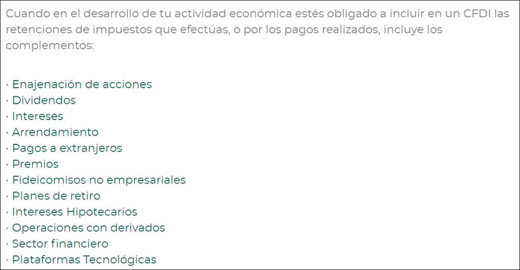 CFDI de Retenciones e Información de Pagos con Complemento de Dividendos